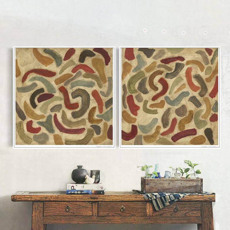抽象细菌素描客厅装饰画