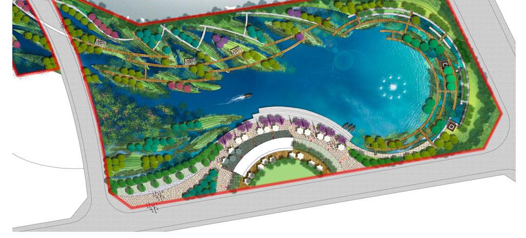 滨水广场景观psd分层平面图图片设计素材_高清psd模板图片