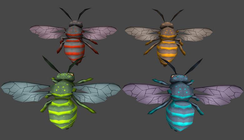 游戏怪物系列卡通写实动物猴子蜜蜂黄蜂怎样秒棍图片
