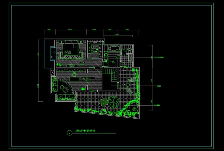 CAD住宅楼平面布置图