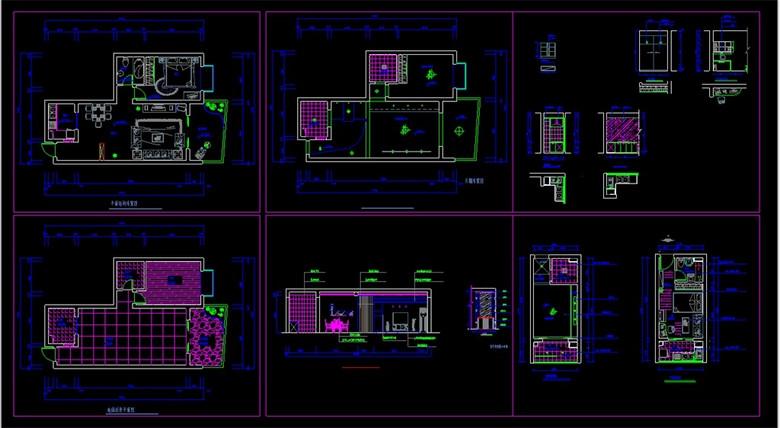 CAD小户型家装结构布置图