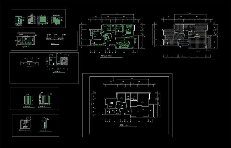 CAD小户型家装设计装修图