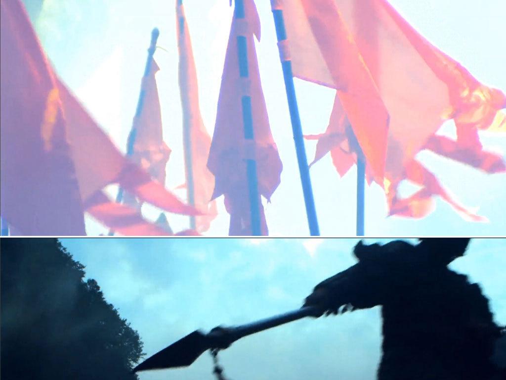 十面埋伏美女弹琵琶古代军队视频模板素材 高清格式下载 视频212.40