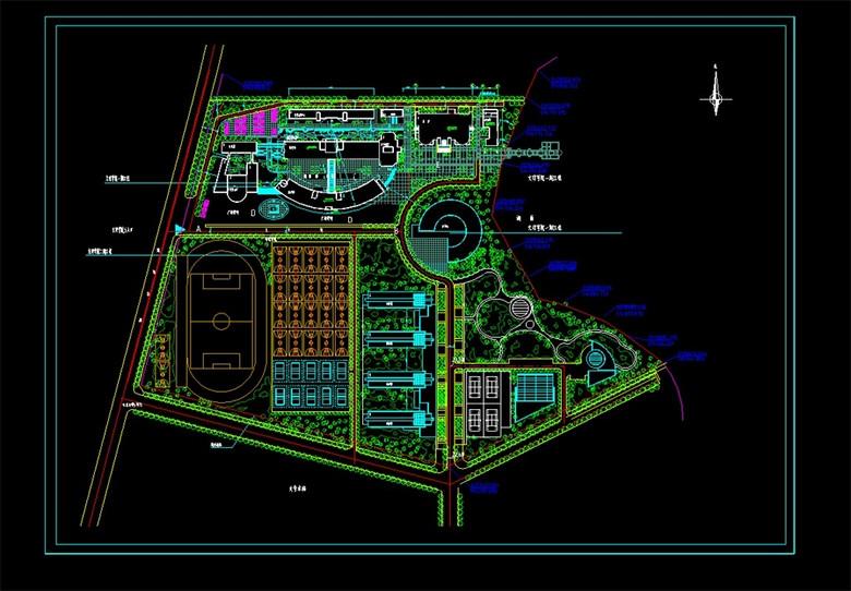 CAD学校平面图图片下载dwg素材 建筑图纸