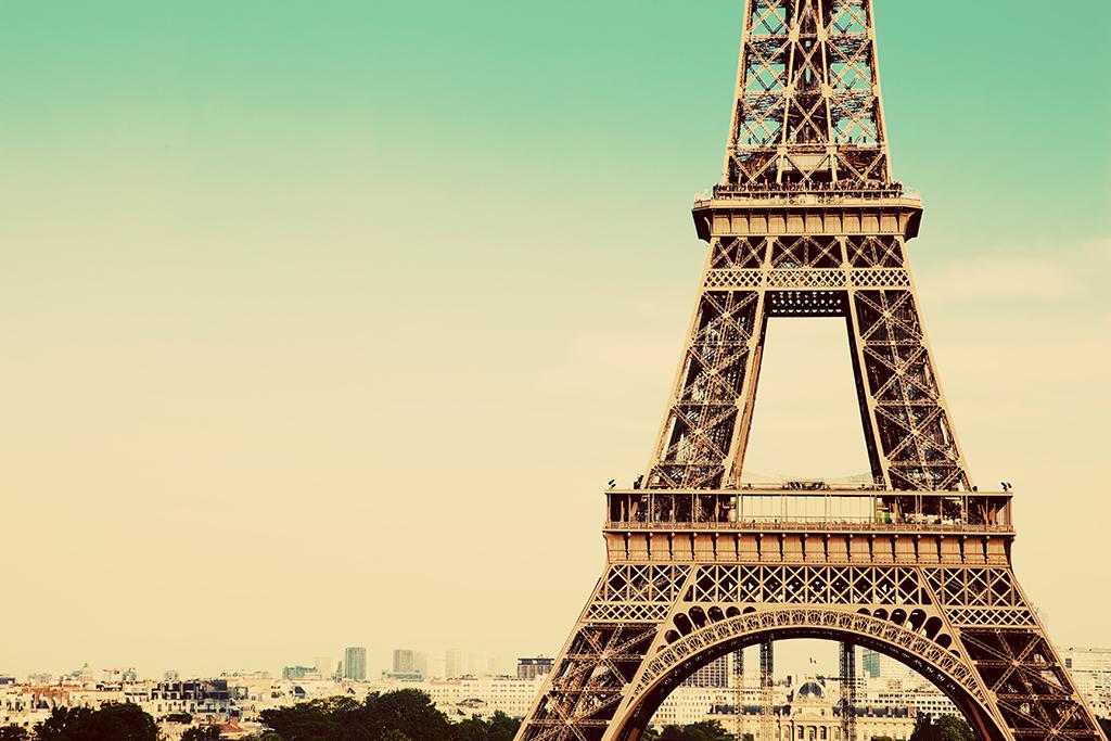 巴黎埃菲尔铁塔小清新 14942760 风景无框画图片