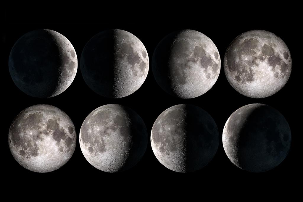 月球月亮轨道变化儿童房书房装饰画