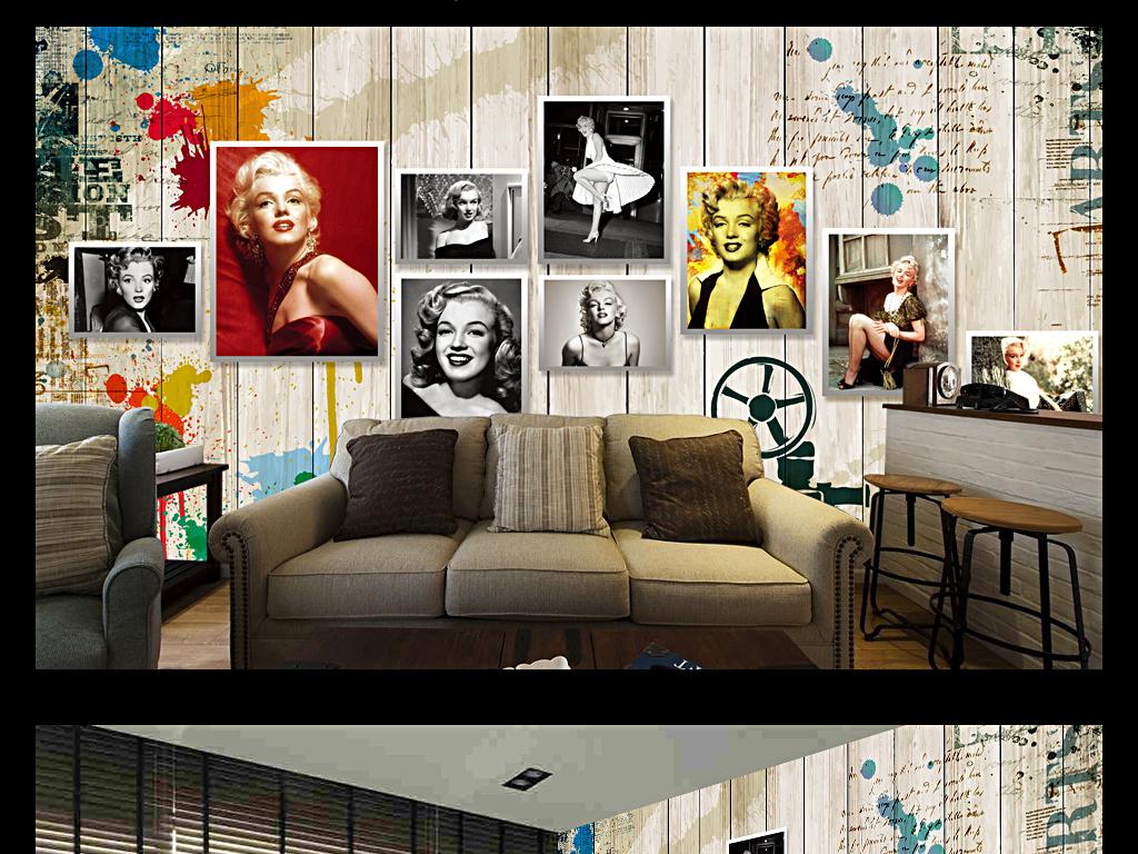 我图网提供精品流行 复古怀旧明星玛丽莲梦露KTV餐厅背景墙素材 下载,作品模板源文件可以编辑替换,设计作品简介: 复古怀旧明星玛丽莲梦露KTV餐厅背景墙 位图, RGB格式高清大图, 使用软件为 Photoshop CS3(.psd) 载电视背景墙