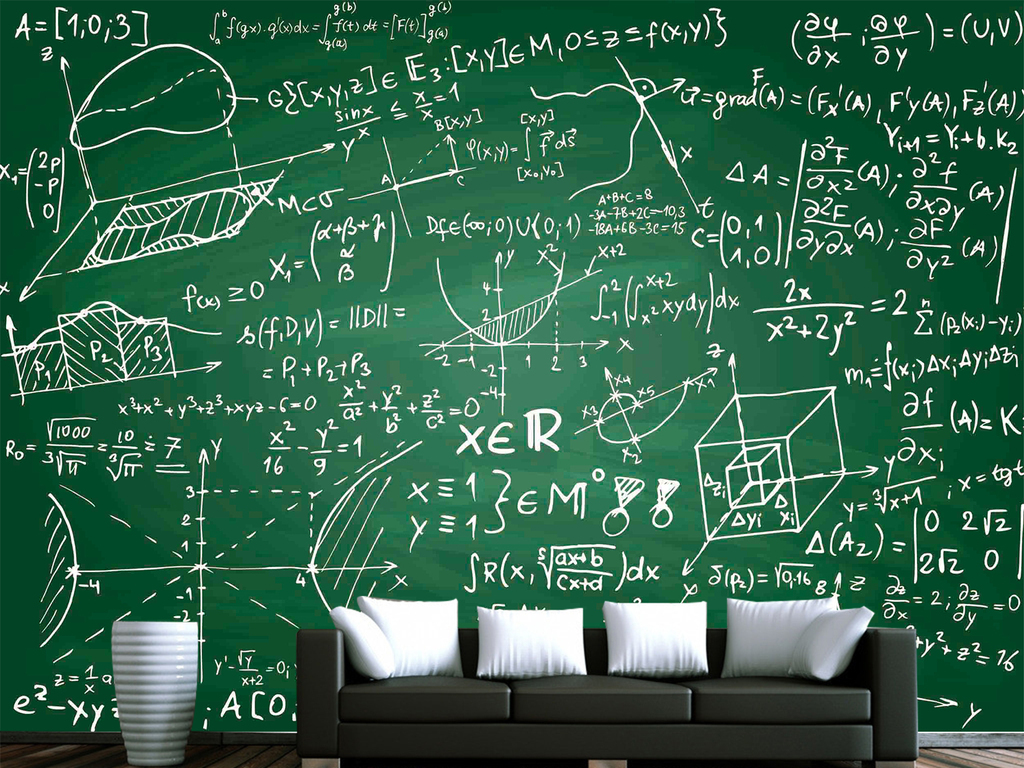 创意欧式手绘墙绘弧线数字知识酒吧水吧吧台餐厅咖啡厅背景墙无框画
