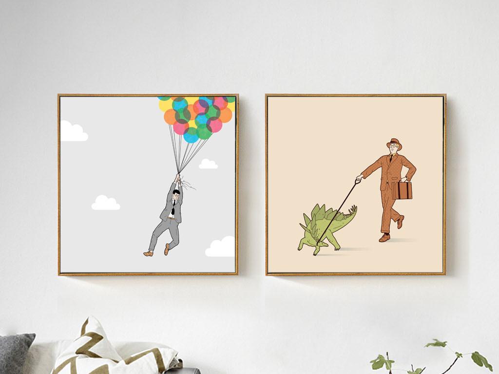 背景墙|装饰画 无框画 人物无框画 > 北欧风格简约手绘创意男人装饰画