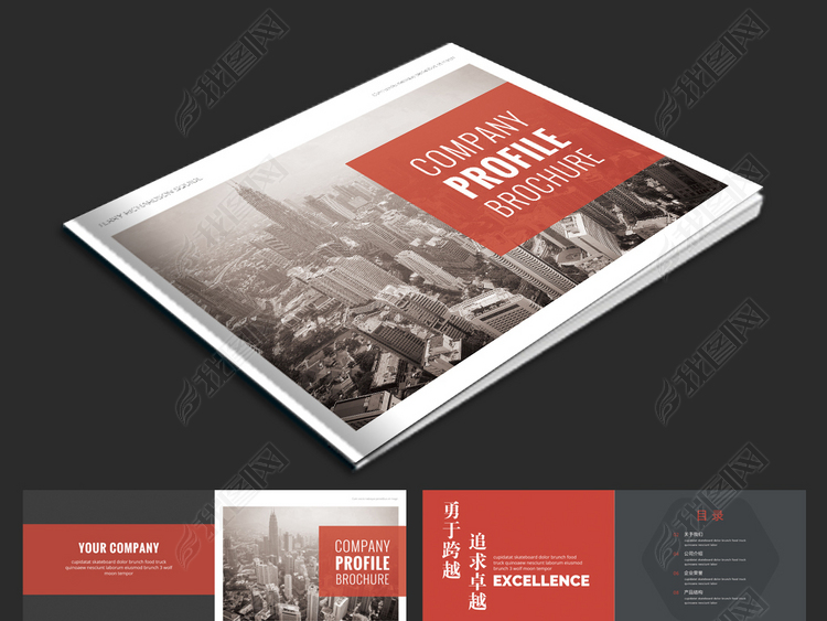 大气企业形象画册设计企业宣传册