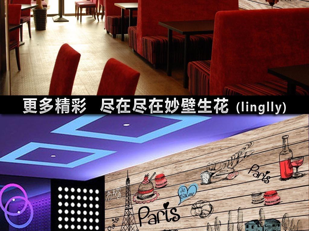蛋糕店壁画背景墙效果图 14966448 欧式电视背景墙效果图