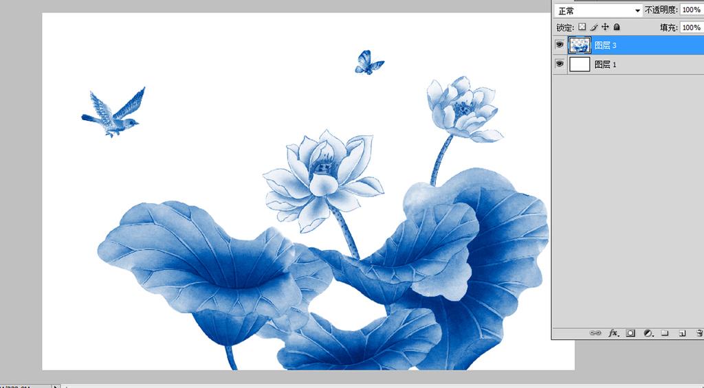 背景墙 壁画 手绘壁画 > 青花瓷手绘荷花  素材图片参数: 编号 : 1496