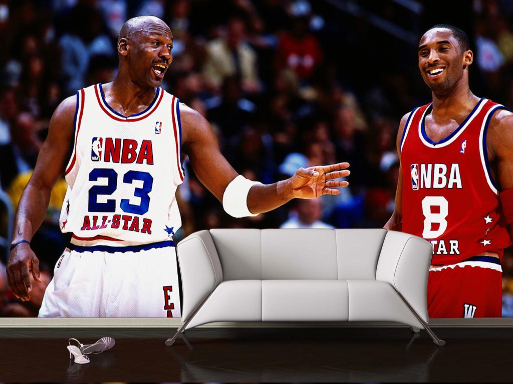 NBA蓝球巨星科比背景墙效果图 14973024 明星背景墙效果图图片