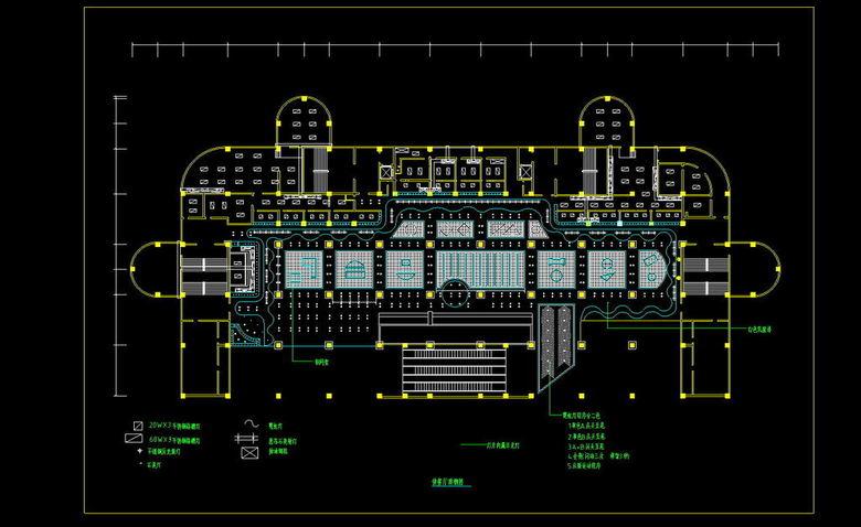 餐厅CAD天花平面图