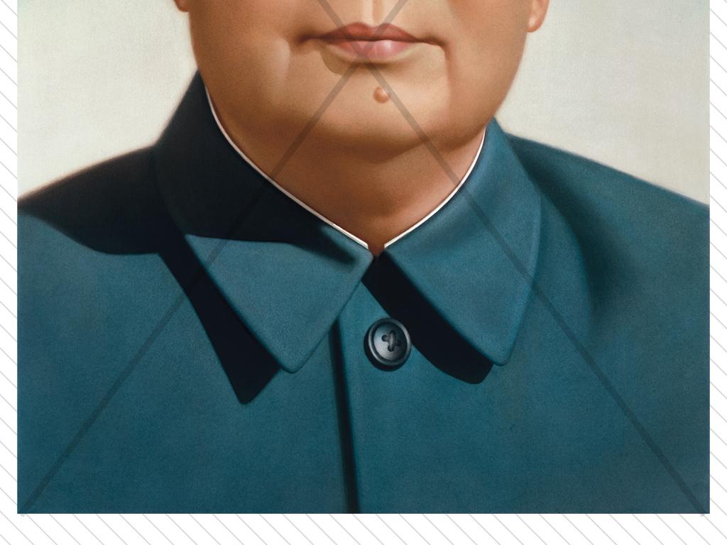 高清人物油画伟人毛泽东画像