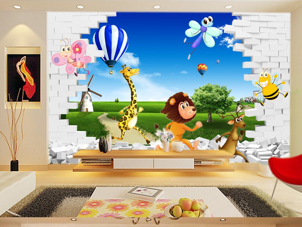 我图网提供精品流行 立体风景动物世界背景墙图片素材 下载,作品模板源文件可以编辑替换,设计作品简介: 立体风景动物世界背景墙图片 位图, RGB格式高清大图, 使用软件为 Photoshop CS5(.psd)