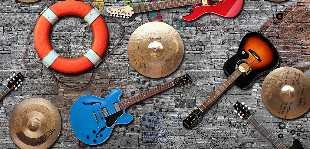 手绘涂鸦复古怀旧砖墙情怀ktv锣ktv背景石头墙砖音乐背景吉他酒吧背景