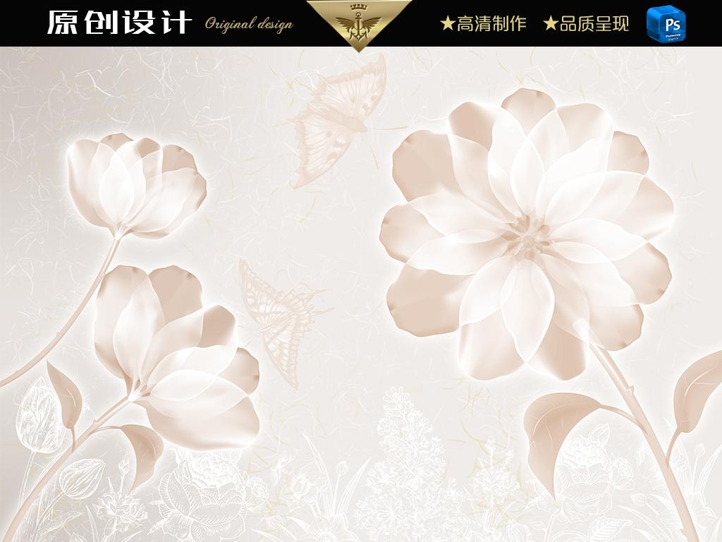 清新花卉简约背景墙(图片编号:14987404)_日韩背景墙