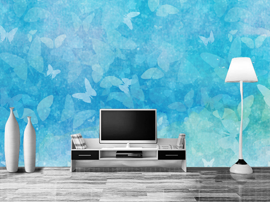 电视背景墙立体3d室内装饰壁画手绘壁画壁画背景墙房间