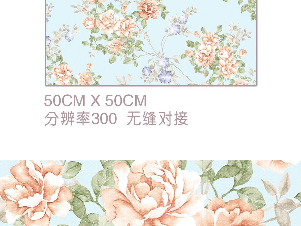 壁纸简欧式背景欧式素材花卉花朵花卉背景梦幻花卉手绘花卉线描花卉 图片