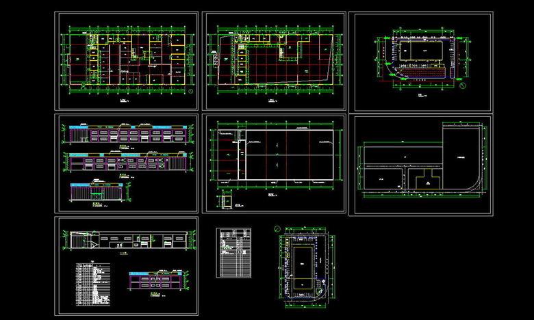 本田汽车销售展厅CAD建筑施工图图片下载dwg素材 建筑图纸