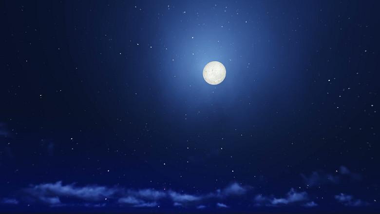 蓝色月光侦探礹.+y��_蓝色星空下皎洁的月光