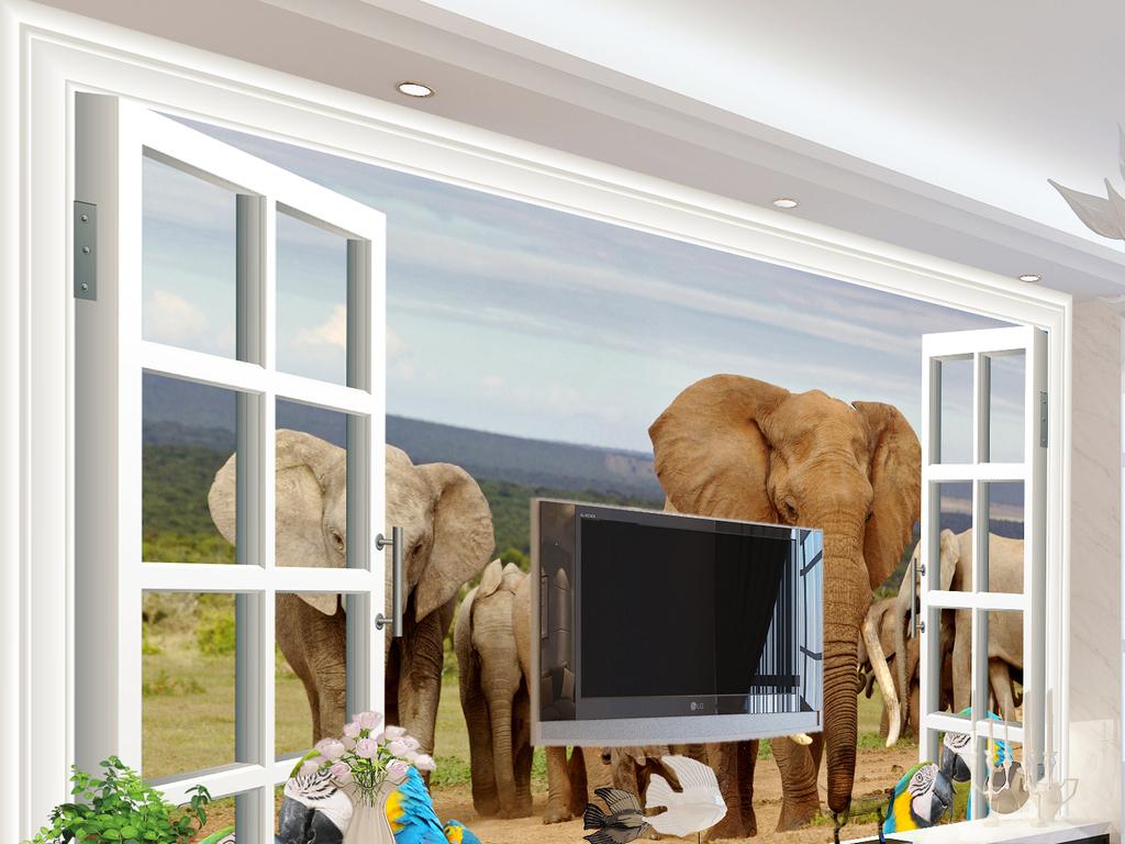 我图网提供精品流行 动物世界大象鹦鹉儿童背景墙素材 下载,作品模板源文件可以编辑替换,设计作品简介: 动物世界大象鹦鹉儿童背景墙 位图, RGB格式高清大图, 使用软件为 Photoshop CS4(.psd)