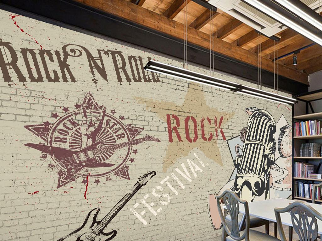 ktv酒吧手绘文化背景墙壁画
