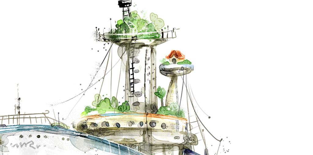 北欧风格现代简约手绘创意小清新卡通船 位图, cmyk格式高清大图