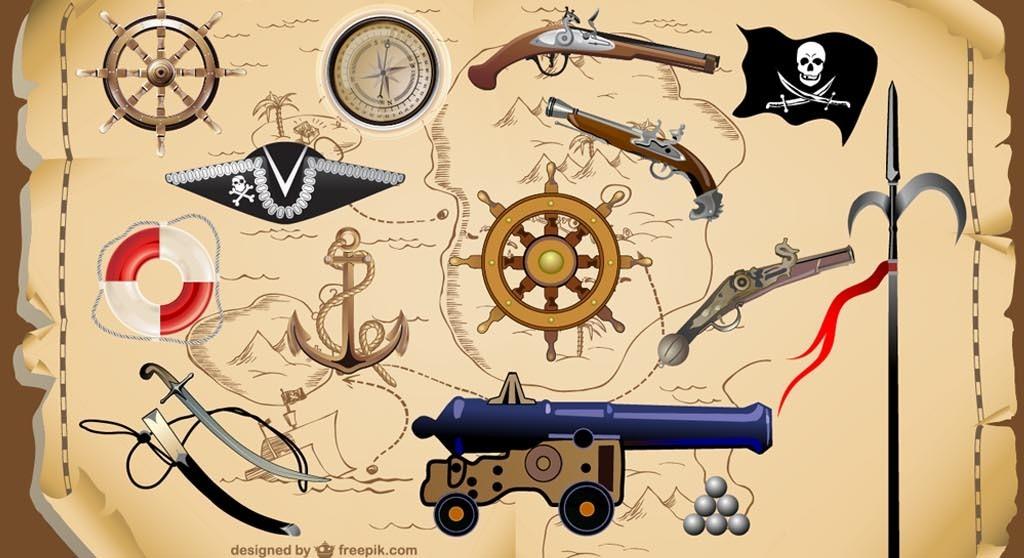 加勒比海盗世界地图地球仪航海图怀旧背景墙