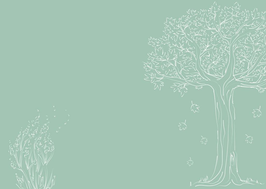 psd)                                  小树手绘清新