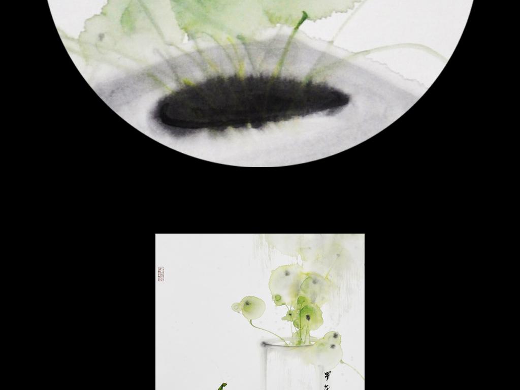 新中式禅意意境水墨花鸟装饰画(图片编号:15039468 ...