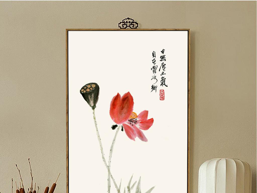 中式无框画水墨写意齐白石手绘花鸟(图片编号:)_中国