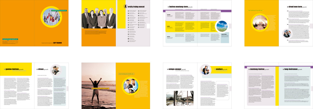国外国际化个性创意商务企业产品宣传册设计图片