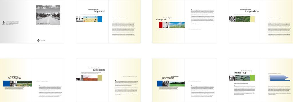 eps)国外国际化个性创意商务企业产品宣传册设计蓝色服装个性排版时尚