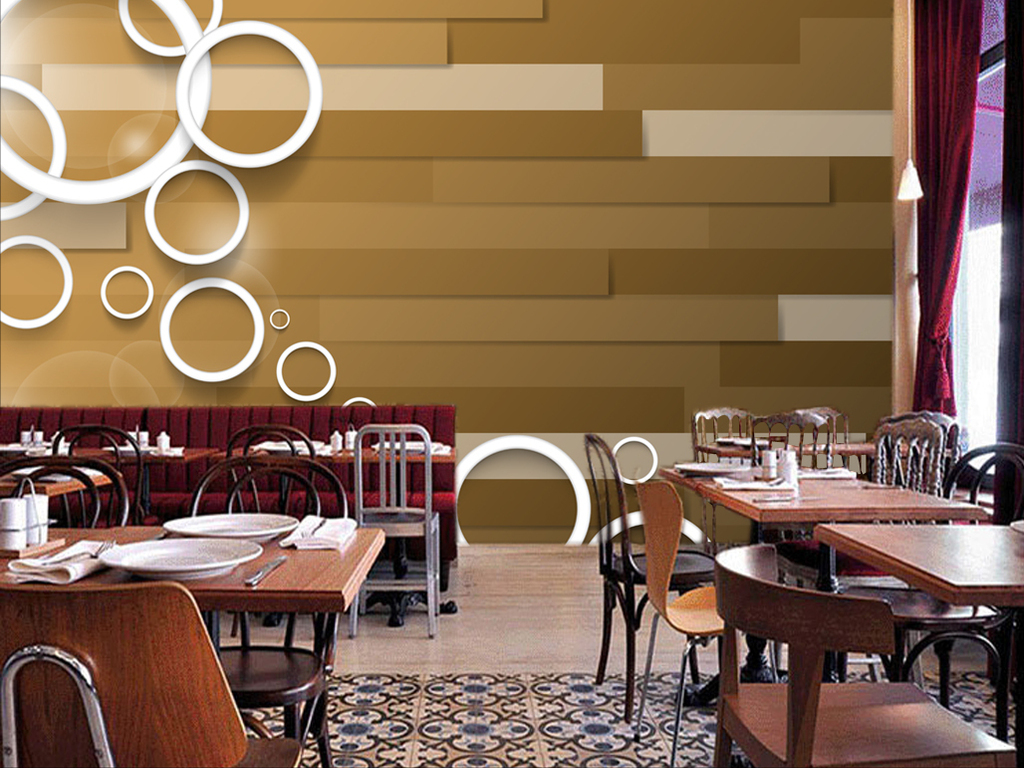 现代简约抽象木条木纹背景墙