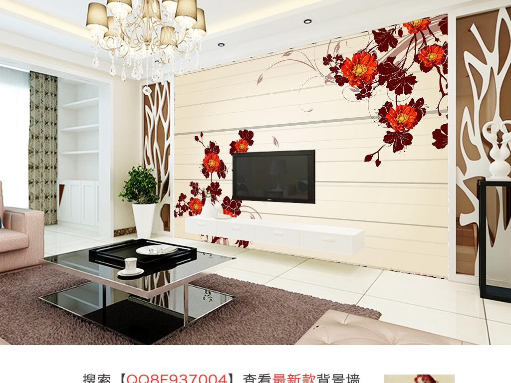 简约大气电视背景墙效果图(图片编号:15075418)_现代