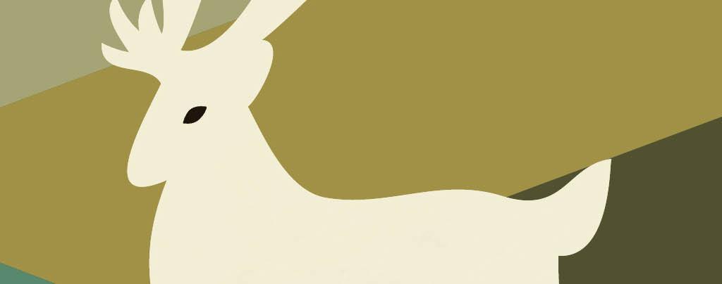 黑白装饰画抽象画抽象装饰几何复古无框画抽象抽象创意jpg鹿树林麋鹿