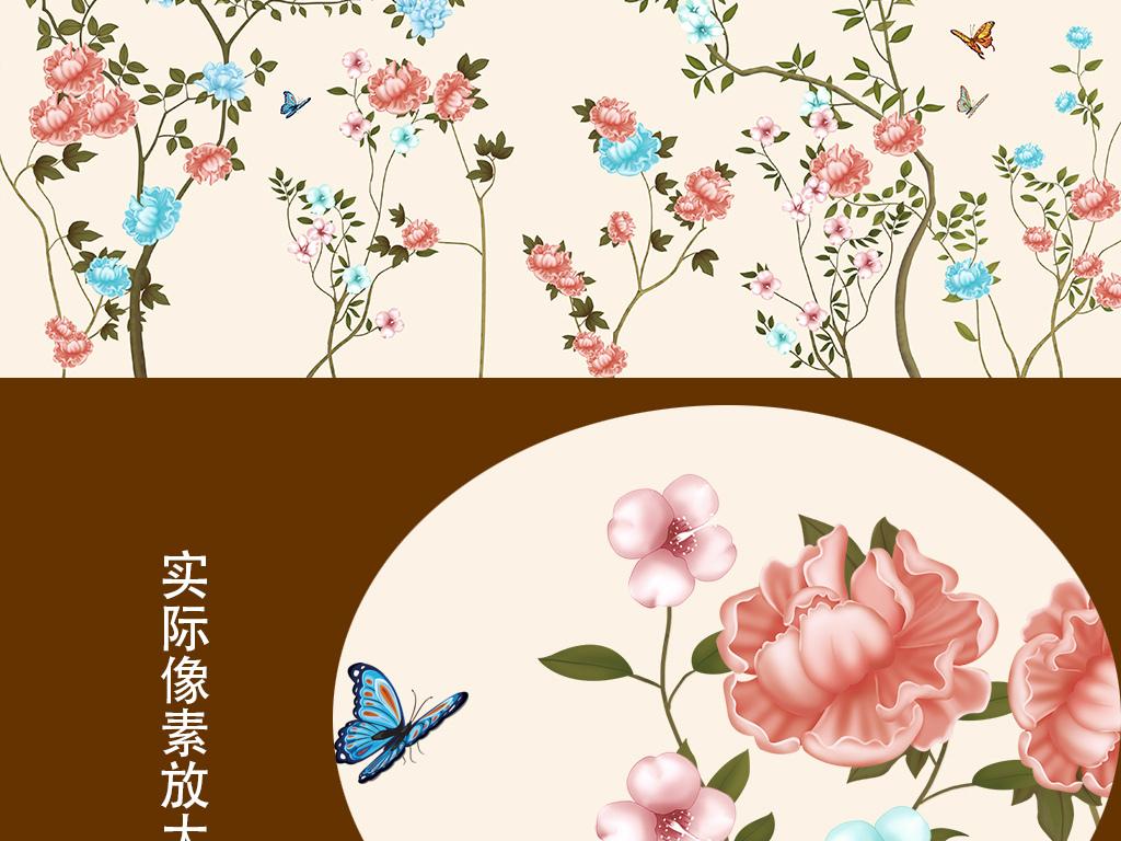 唯美手绘花卉桌面台面
