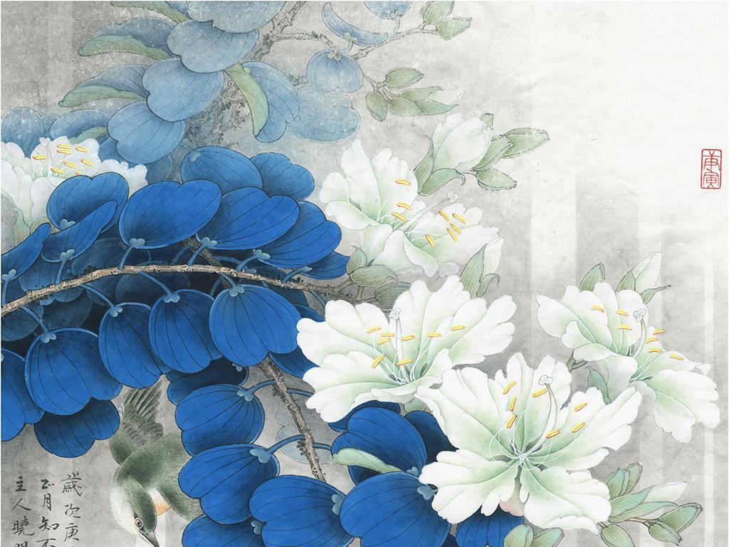 超清晰名家中国工笔画花鸟画作品无框画