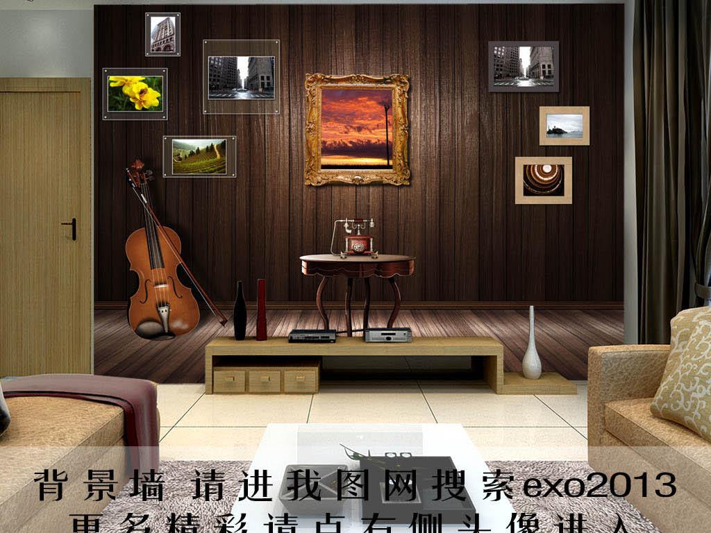 木板桌子3d电视背景墙艺术玻璃电视背景墙中式背景墙欧式背景墙玉雕