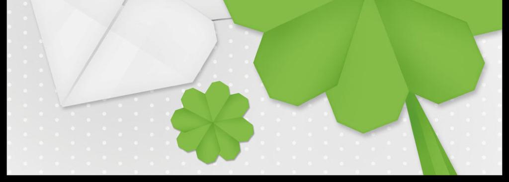 绿色小花折纸花纹印花图案花纹psd分层