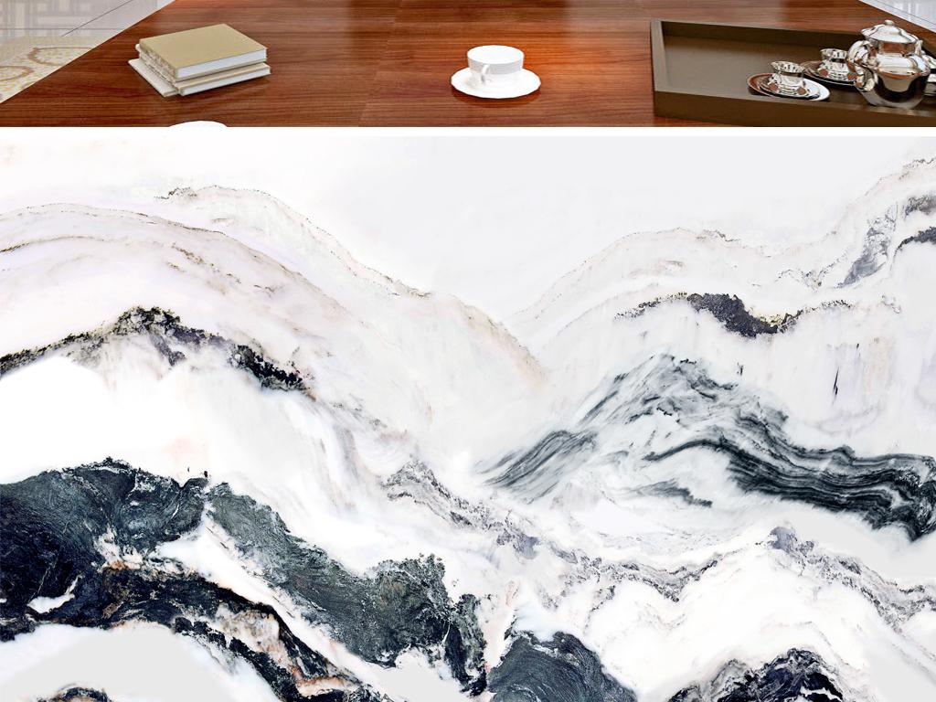 作品模板源文件可以编辑替换,设计作品简介: 水墨画山水画大理石纹理