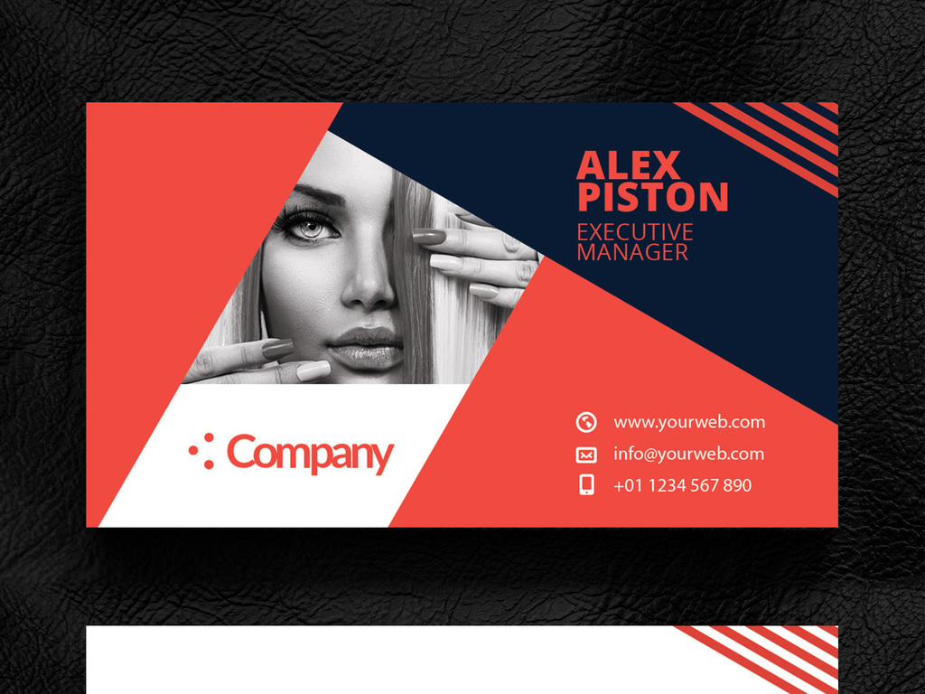 名片模板 广告设计名片 > 红色潮流时尚艺术个人名片设计模板  素材