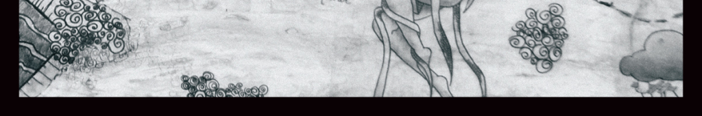 手绘铅笔鲸鱼插画插画