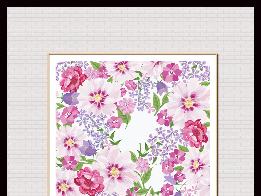 手绘植物花卉水彩画插画