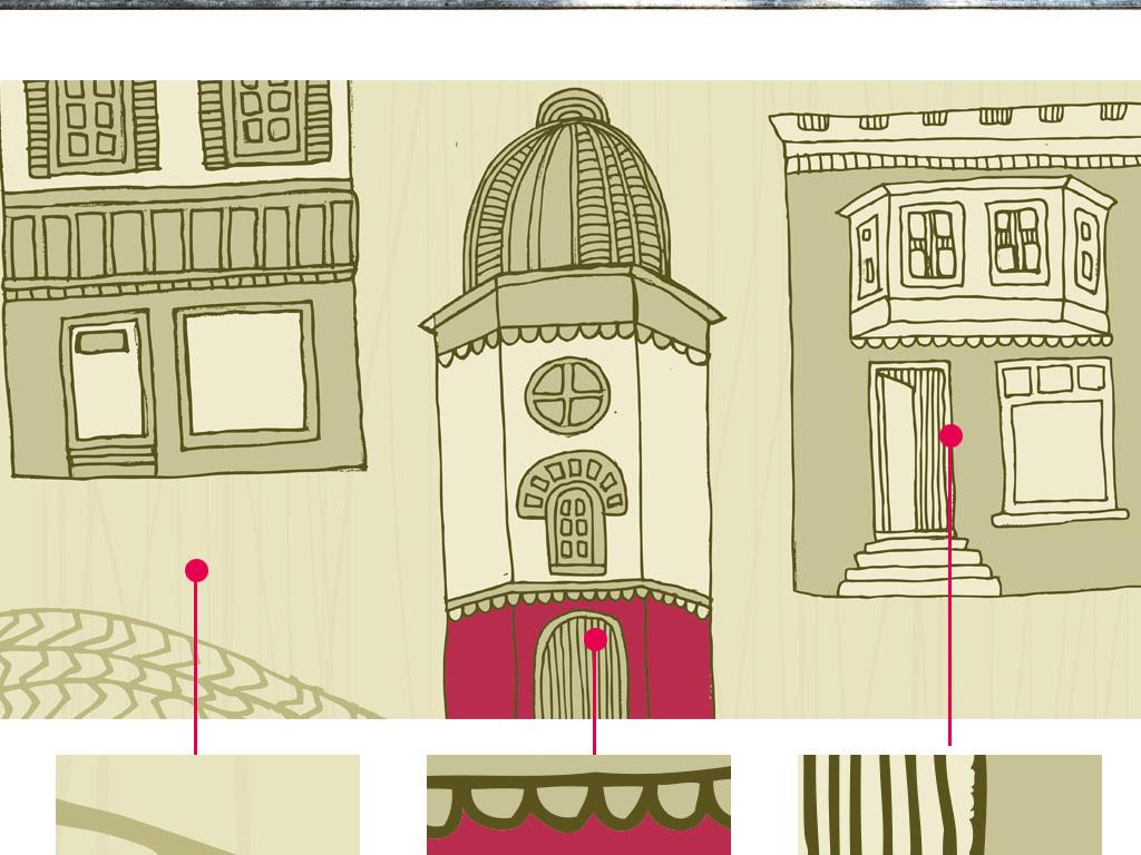 卡通场景咖啡屋蛋糕店壁画背景墙效果图 15139807 酒店 餐饮业装饰