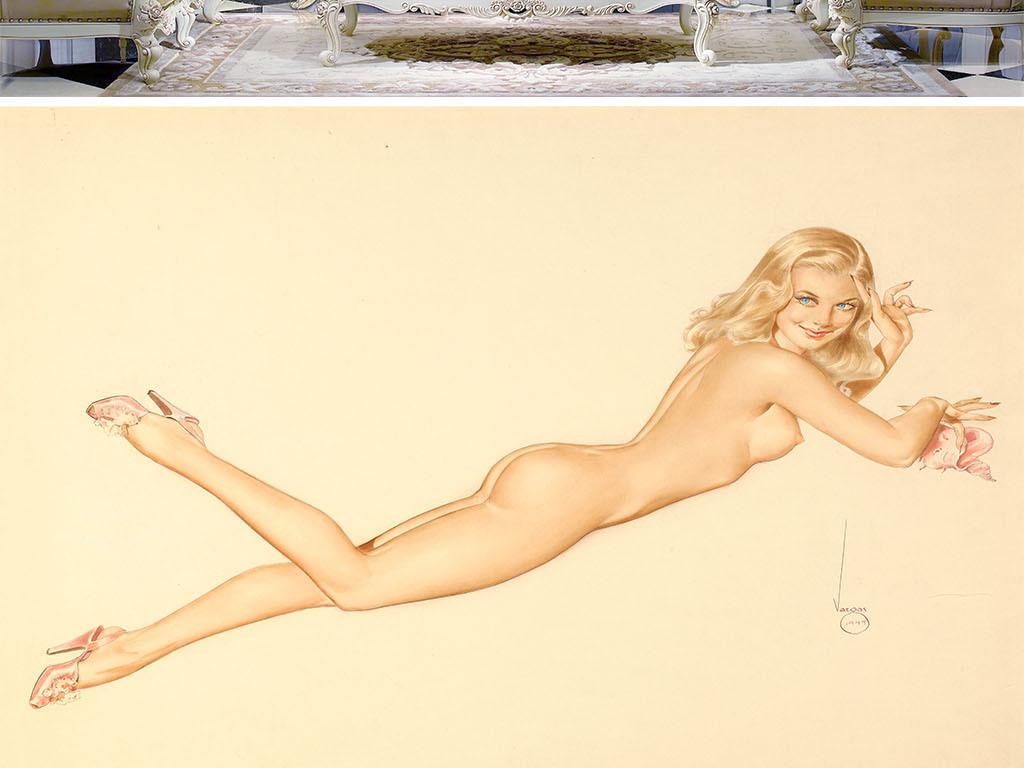 复古性感美女裸体艺术