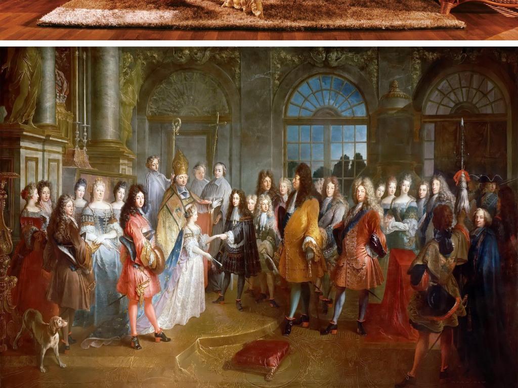欧洲宫廷贵族中世纪油画图片