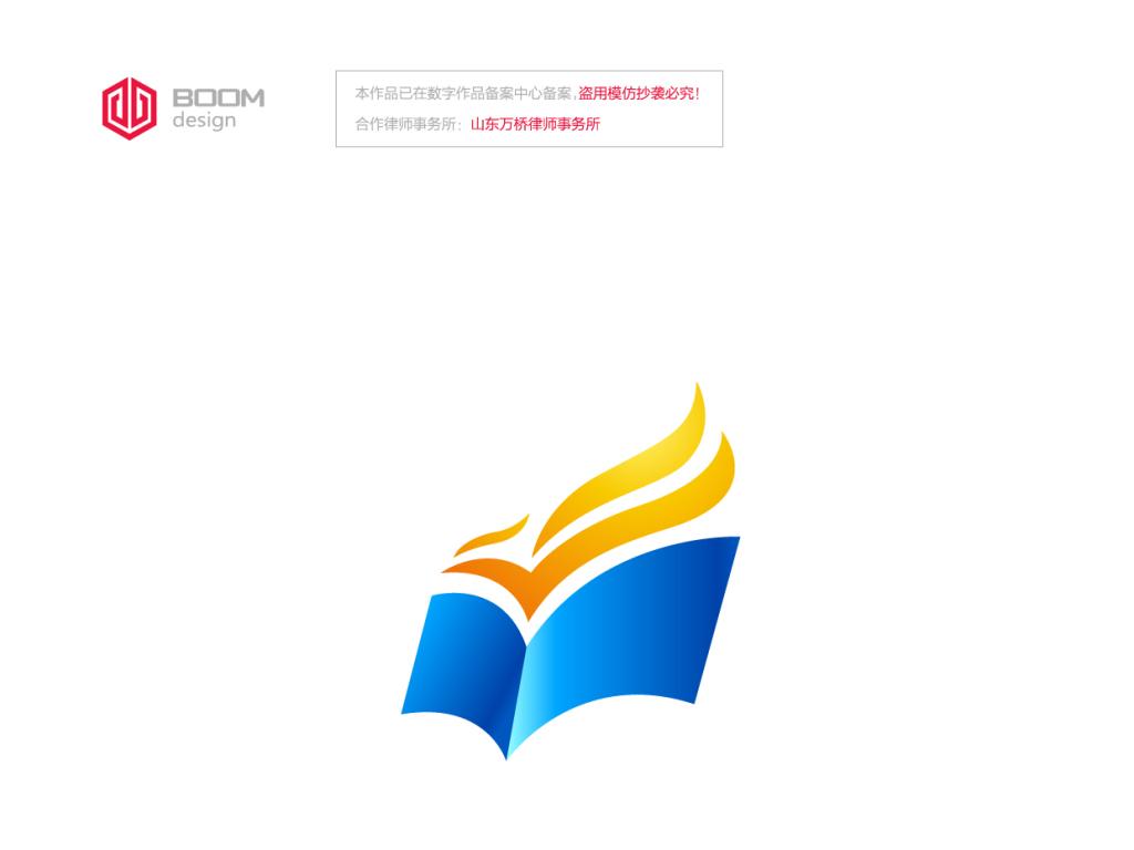 飞鸟logo书本logo教育logo设计图片